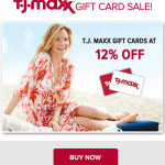 T.J Maxx Gift Cards Sale and more.