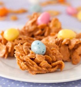 Peanut butter butterscotch nests
